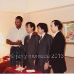 Larry Holmes, Genyo Takeda and Punch Out team members
