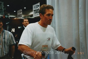1984 US Olympic Gold Medal Downhill Champion, Bill Johnson plays Alpine Racer at 1997 Ski Show in Las Vegas